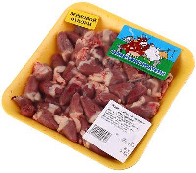 Сердечки цыплят замороженные ~ 400г зернового откорма, Фермерский продукт