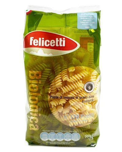 Фузилли №178 БИО, 500г из твердых сортов пшеницы, Пастифичио Феличетти