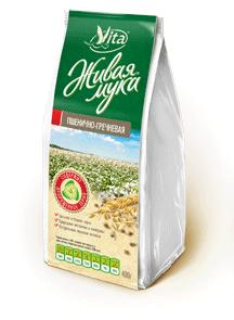 Живая мука пшенично-гречневая 400г Organic