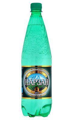 Вода Нарзан 1л лечебно-столовая минеральная, газированная, Кисловодск