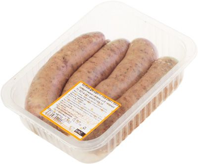 Колбаски для жарки из мяса оленя с травами 550г 4шт, майоран-базилик, замороженные
