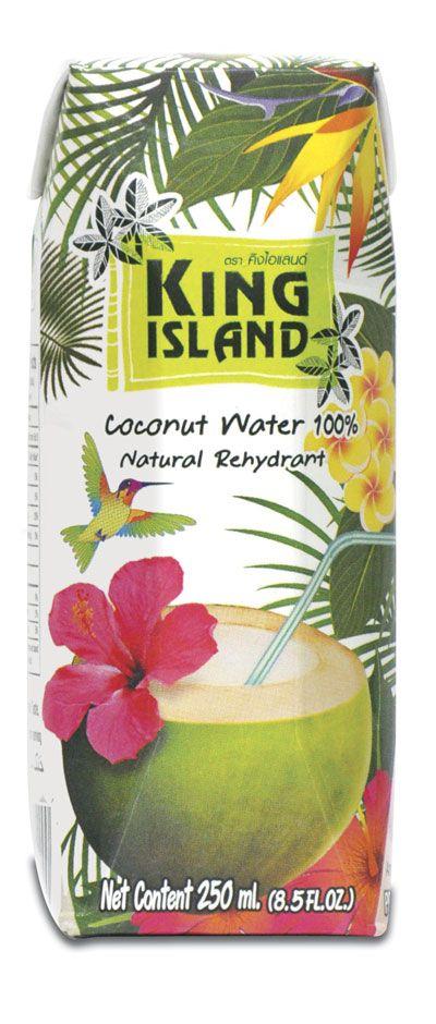 Кокосовая вода KING ISLAND 250мл 100% Coconut water, Тайланд