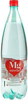 Вода минеральная Mivela лечебно-столовая Mg+ 1,5л слабогазированная, Сербия