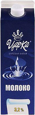 Молоко питьевое 3,2% жир., 1кг пастеризованное, ЦарКа, 7 суток