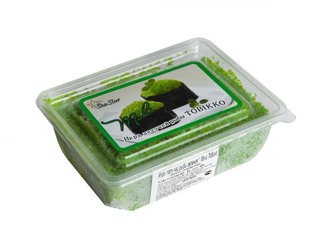 Икра летучей рыбы зеленая 500г Тобико Маки, замороженная