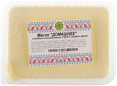 Масло сливочное Домашнее 72,5% жир., 300г сладко-сливочное, Новая Изида