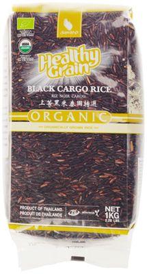 Рис черный органический 1кг длиннозерный, шелушеный, неполированный, Таиланд