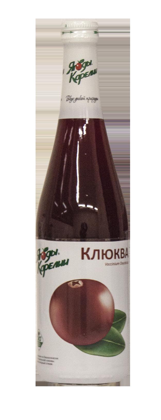Нектар клюква Ягоды Карелии 510мл прямого отжима, без консервантов, без искусственных добавок