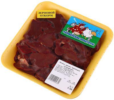 Печень цыплят замороженная ~ 500г зернового откорма, Фермерский продукт