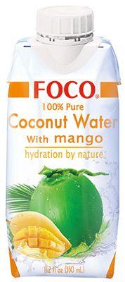 Кокосовая вода со вкусом манго 330мл FOCO, Вьетнам