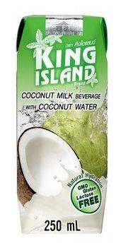 Кокосовый напиток 250мл кокосовое молоко и кокосовая вода, King Island