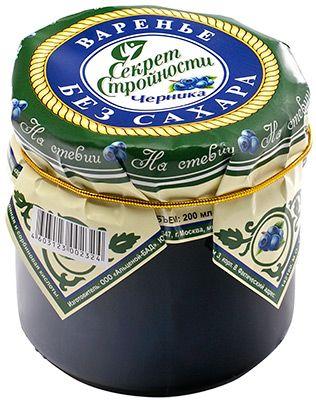 Варенье черника на стевии 200г Россия