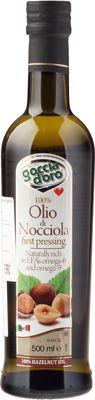 Масло из лесного ореха 500мл нерафинированное, Goccia D`Oro, Италия