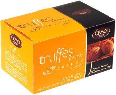 Трюфели Фантазия с цукатами из апельсиновой корочки 200г Cemoi, Франция