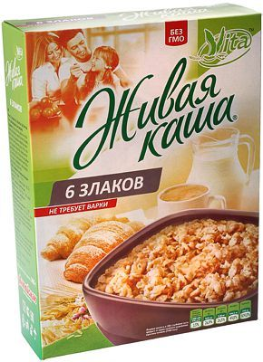 Живая каша Vita 6 злаков 300г микс из 100% пророщенного зерна и хлопьев