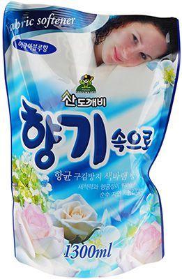 Кондиционер для белья Свежесть океана 1,3л Soft Aroma, Южная Корея