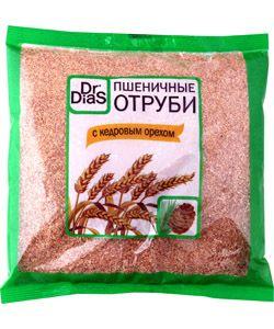 Отруби пшеничные с кедровым орехом, 200г Dr.DiaS, Россия
