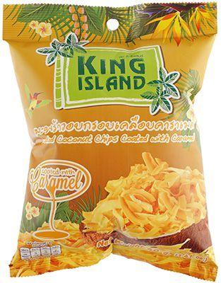 Кокосовые чипсы с карамелью 40г KING ISLAND