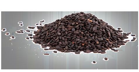 Кунжутное семя 1кг черное, обжаренное, Индия