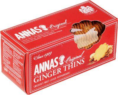 Печенье имбирное оригинальное 150г тонкое, ANNAS, Швеция