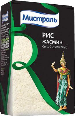 Рис Жасмин белый ароматный 500г длиннозерный, Мистраль