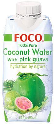 Кокосовая вода со вкусом гуавы 330мл FOCO, Вьетнам