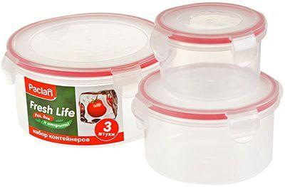 Набор контейнеров для хранения продуктов 3шт, PACLAN Fresh Life