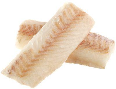 Треска Экспортная филе спинка ~1кг без костей, подходит для детского питания, замороженная, 3-4шт в кг, Мурманск, 15% глазировки