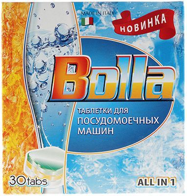 Таблетки для посудомоечных машин 30шт BOLLA, Италия