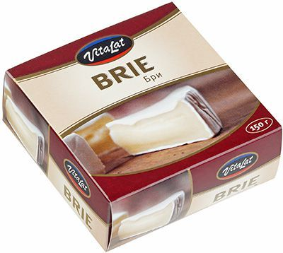 Сыр Бри с белой плесенью 150г мягкий, Vitalat