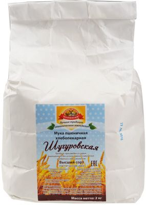 Мука пшеничная хлебопекарная Шугуровская 2кг высший сорт, лучшие традиции эко земледелия