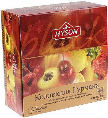 Чай HYSON черный Коллекция Гурмана 60шт*1,5г, 6 вкусов