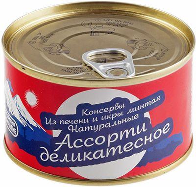 Печень и икра минтая ассорти 215г деликатесные, АВАЧА, Камчатка