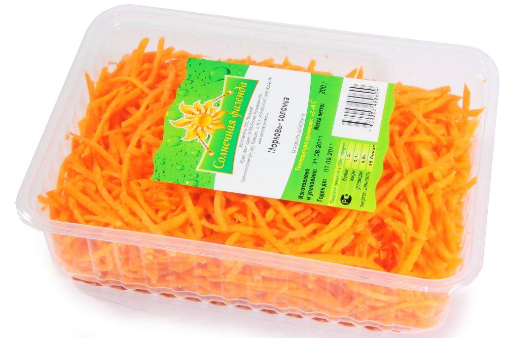 Морковь соломка 200г лоток, Валенсия ФК