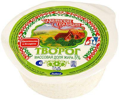 Творог Славянские традиции 5% жир., 355г Белоруссия, 20 суток