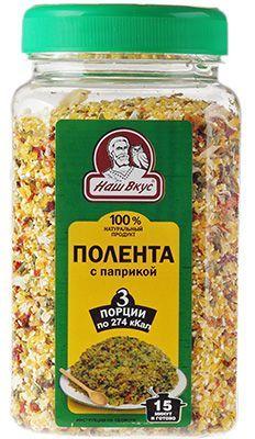 Полента с паприкой 300г 100% натуральный продукт, Наш Вкус