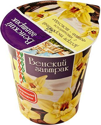 Десерт творожный Ваниль-шоколад 4% жир., 150г Венский завтрак, Белоруссия