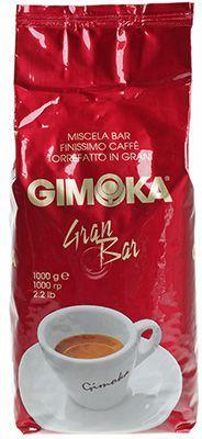 Кофе GIMOKA Росса Гран Бар 1кг 70% арабика, 30% робуста, зерновой, Италия