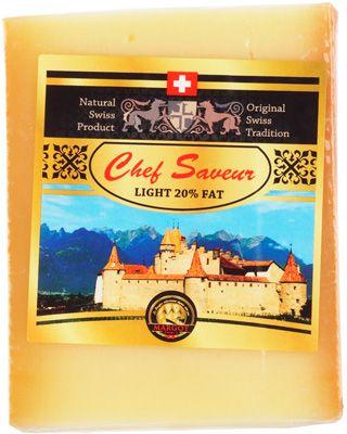 Сыр Шеф Савье 20% жир., 200г кусок, твердый, Швейцария