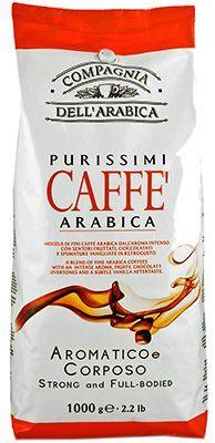 Кофе DELL'ARABICA Пуриссими 1кг 100% арабика, в зернах, Италия