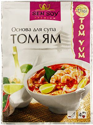 Основа для супа Том ям 80г приправы и специи для тайского супа, Сэн Сой Премиум