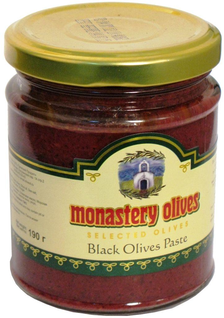 Паста из черных оливок 190г Монастырские оливы