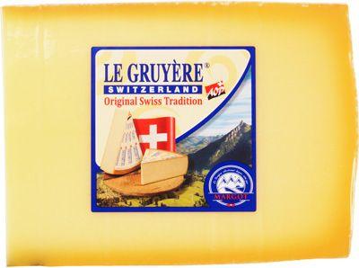 Сыр Грюйер 49% жир., 200г кусок, твердый, Швейцария