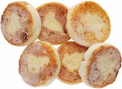 Сырники из творога с изюмом 4,4% жир., 300г 6шт, замороженные, сделано вручную, Караваево