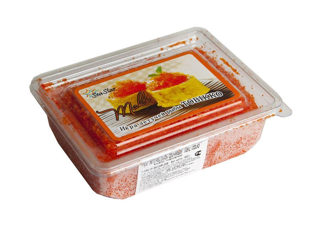 Икра летучей рыбы оранжевая 500г Тобико Маки, замороженная