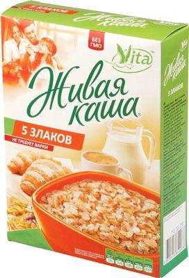 Живая каша Vita 5 злаков 300г микс из 100% пророщенного зерна и хлопьев