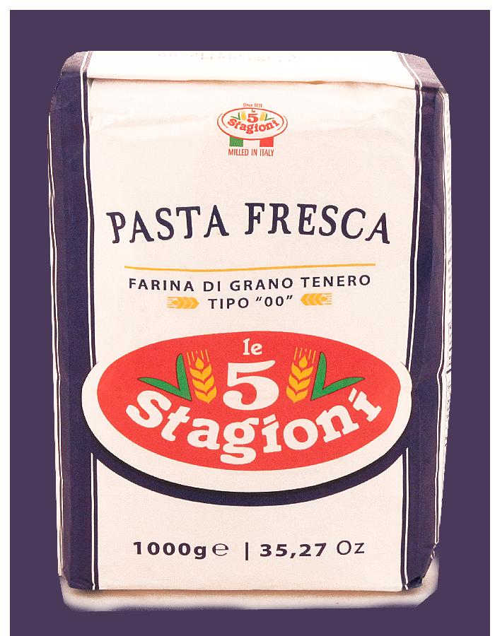 Мука для свежей пасты 1кг 00/P.F, 5-STAGIONI, из мягких сортов пшеницы