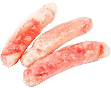 Мясо камчатского краба ~ 350г 1-я фаланга, варено-мороженая, без панциря, глазировка 45%, Россия