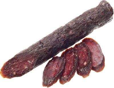 Колбаса Марал в огне 180г сыровяленая, подарочная упаковка, Деликатес Дичь