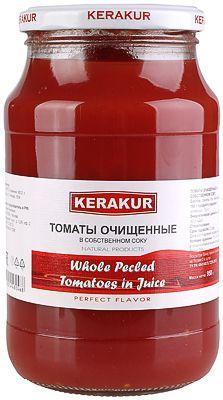 Помидоры в собственном соку 950г томаты очищенные, KERAKUR, Армения